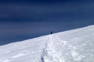 Belchen auf dem Weg zum Gipfel