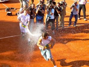 Rafael Nadal (Siegesdusche)