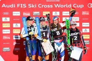 v.l.n.r. Ski Crosser:Lisa Andersson, Sandra Naeslund, Alizee Baron, Marielle Thompson