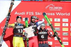 v.l.n.r. Ski Crosser:Florian Wilmsmann, Ryan Regez, Kevin Drury