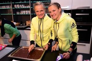 Anna (li.) und Lisa (re.) Hahner - Marathon
