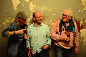 Steve Payne (re). mit Gary Thomas (li) und Giles Norman