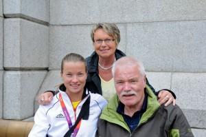 Katrin Holtwick und Eltern - Beachvolleyball